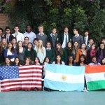 BDS students and teachers with American and Indian visitors