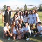 El euipo de Junior Girls, con Hugo